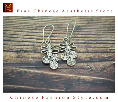 a2c8fe31bd2 Fine 99 Earrings High Purity Sterling Silver Jewelry 100% Handcrafted Art  #120