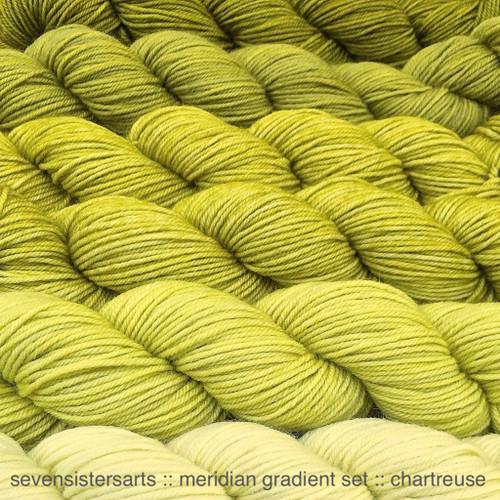 Meridian Gradient Set Chartreuse