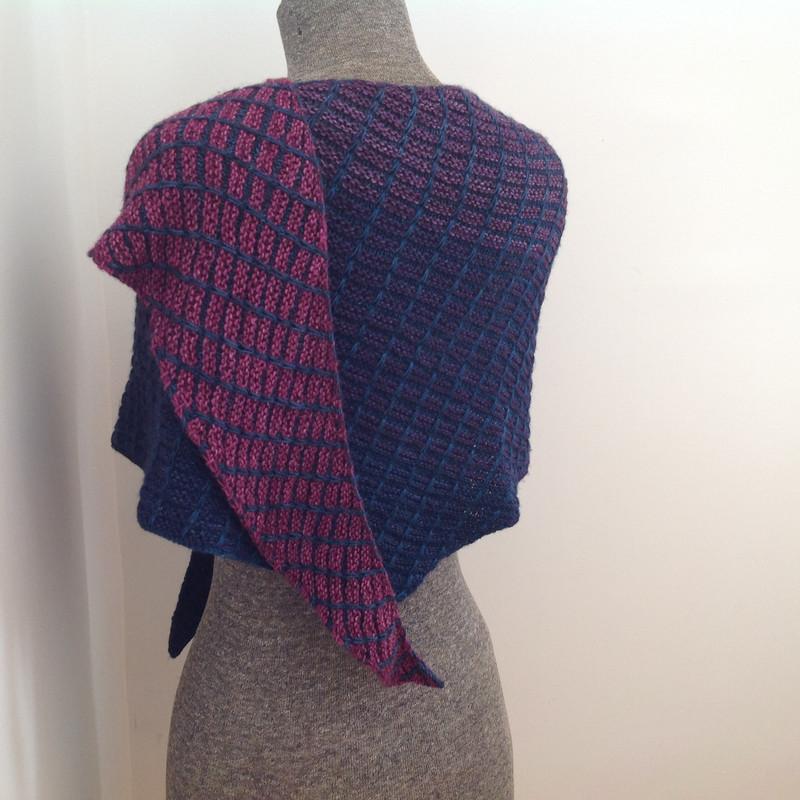 Shawl::Radiant Gradient by Susan Ashcroft. Knit by Meg.