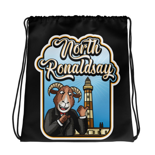 Rolly & the Lighthouse Drawstring bag North Ronaldsay, Orkney