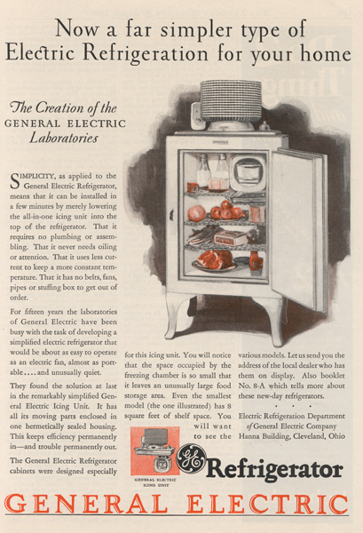 First hermetically sealed domestic refrigerator