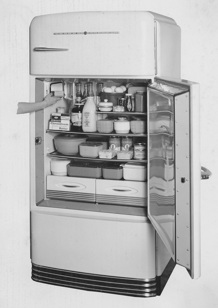 First two-door refrigerator-freezer combination