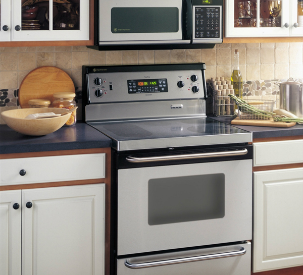 Standless steel line up of appliances