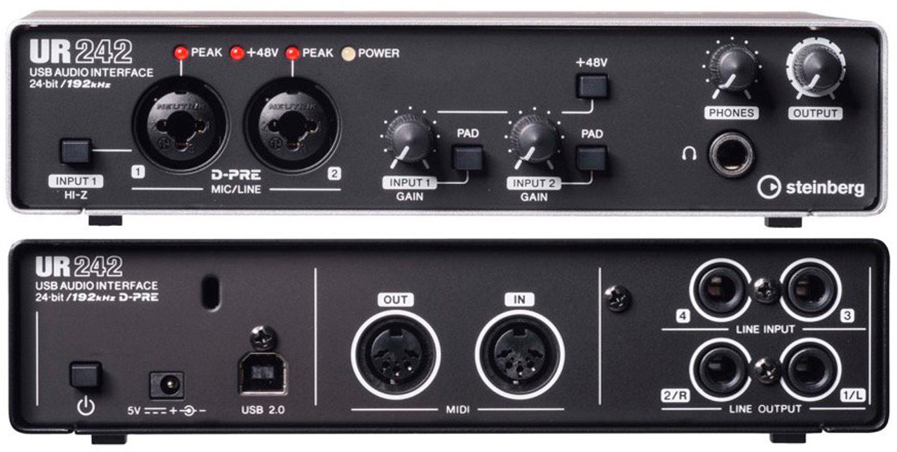 Steinberg UR242 Recording Interface - On sale at Guitar World ...