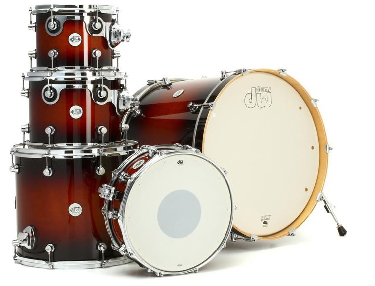 DW Design Series 5-piece Drum kit With Hardware - Tobacco Burst