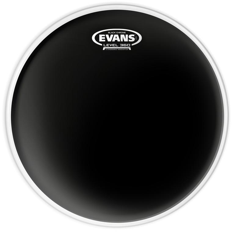 Evans Black Chrome Drum Head, 12 Inch