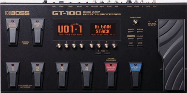 BOSS GT100 - Amp Effects Processor
