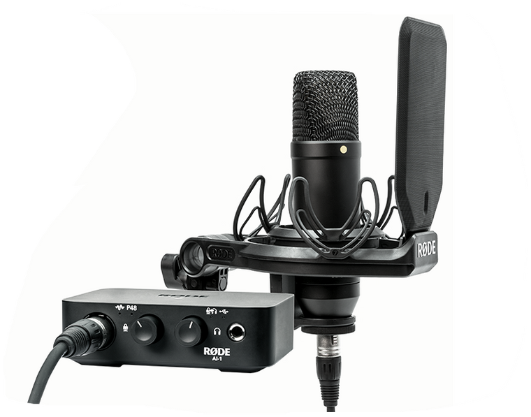 Rode AI-1 Complete Studio Kit with NT1 Microphone and AI-1 Audio Interface