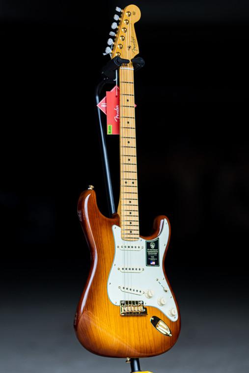 Fender 75th Anniversary Commemorative Stratocaster, Maple Fingerboard, 2-Color Bourbon Burst