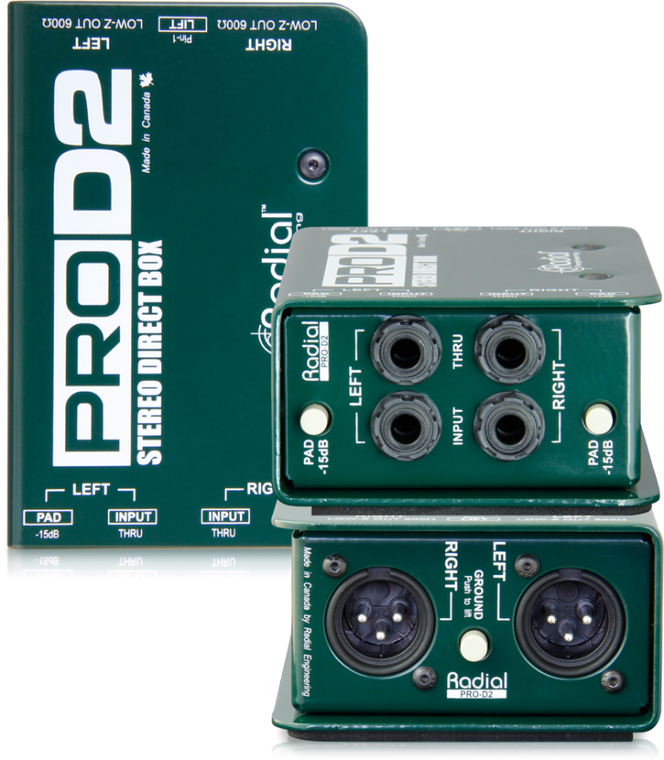 Radial ProD2 2-channel Passive Instrument Direct Box