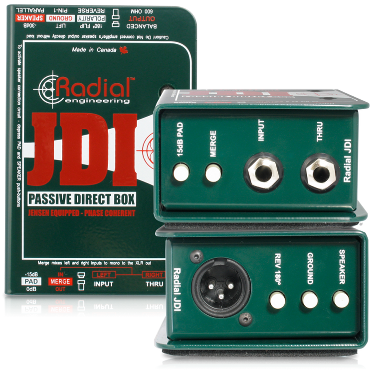 Radial JDI - Jensen Equipped 1-channel Passive Instrument Direct Box