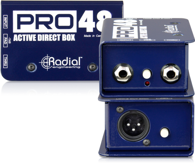 Radial Pro48 1-channel Active 48v Direct Box