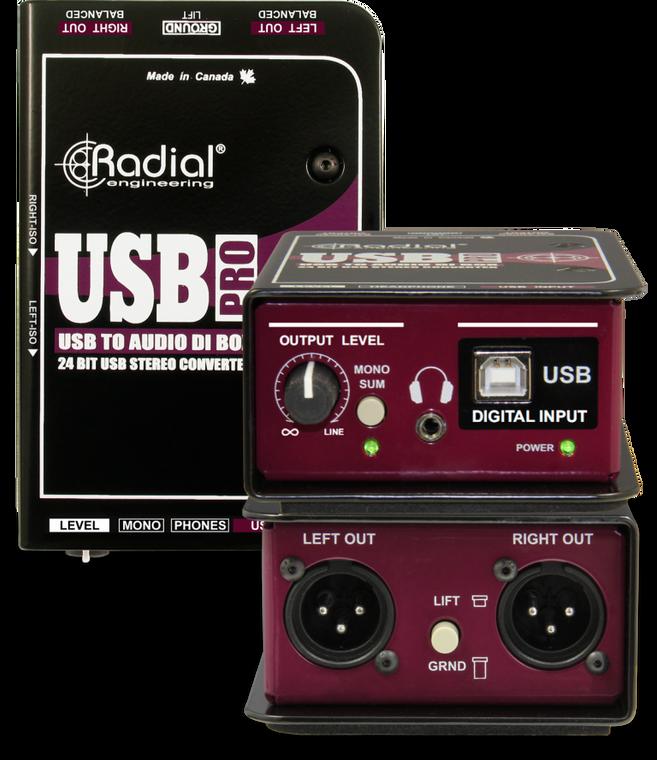 Radial USB-Pro Stereo USB Laptop Direct Box