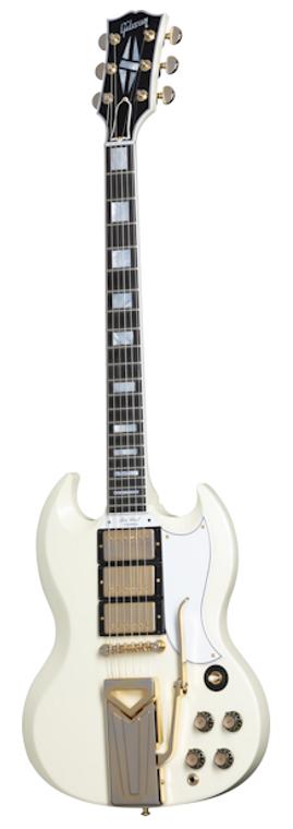 Fender 60th Anniversary 1961 Les Paul SG Custom With Sideways Vibrola - Polaris White