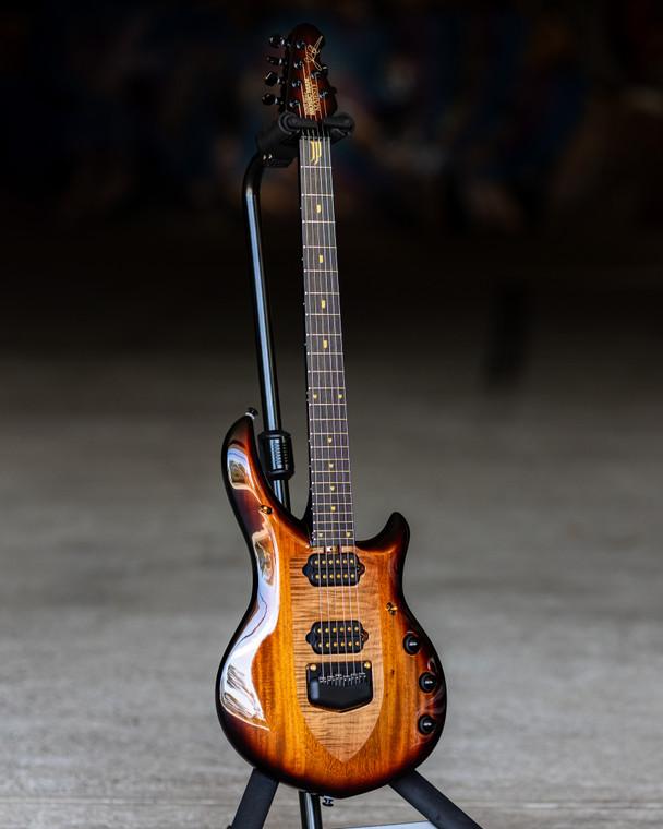 Ernie Ball Music Man John Petrucci Majesty 20th Anniversary Electric Guitar - Honey Butter Burst with Ebony Fingerboard