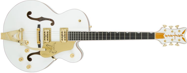 Gretsch G6136T PLAYERS EDITION WHITE FALCON HOLLOW BODY WITH STRING-THRU BIGSBY
