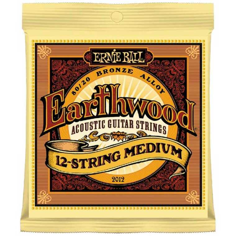 Ernie, Ball, 11-52, Earthwood, Medium, 12-String, Acoustic, Guitar, Strings