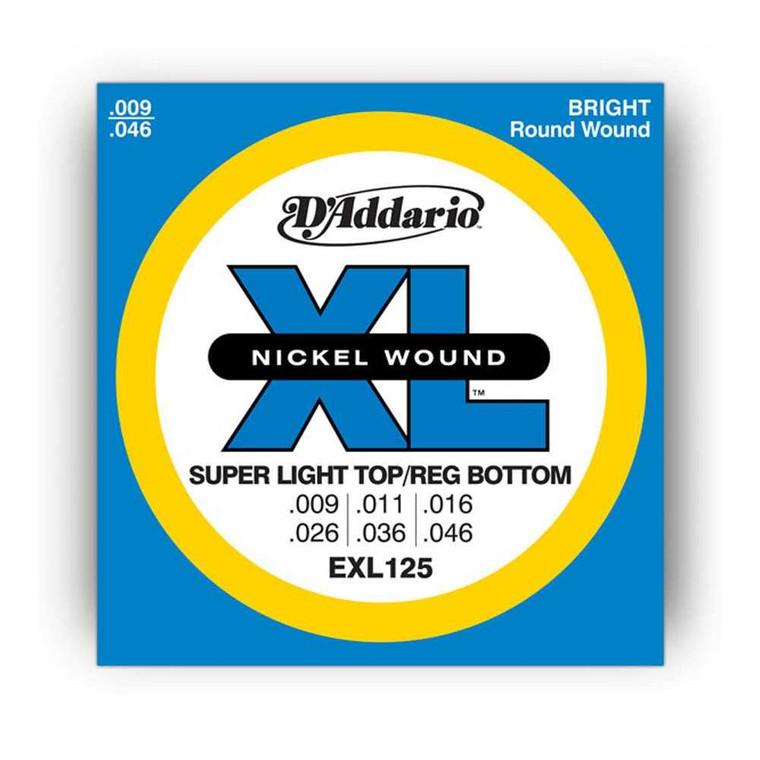 D'Addario, XL, 9-46, Super, Lite, Top/Reg, Bottom, Electric, Guitar, Strings