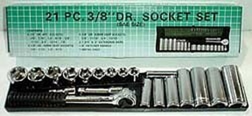 21 Pc 3/8 inch Drive Socket Set