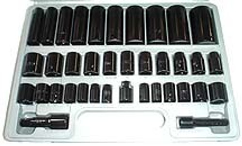 38 Pc 3/8 & 1/2 inch Drive Combo Impact Sockets
