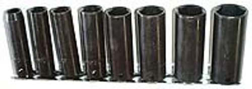 9 Pc 1/4 inch Dr. Deep Impact Socket Set - Metric