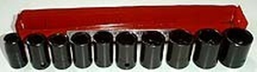 11 Pc 1/2 inch Dr. Shallow Impact Socket Set - Metric