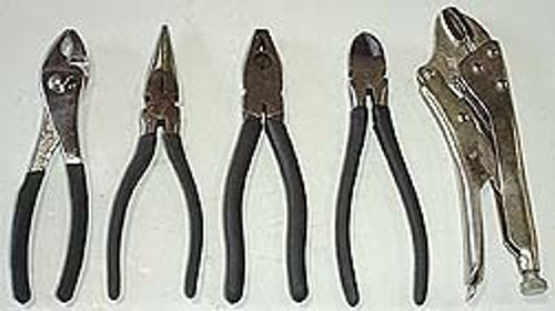 5 Pc Mechanics Plier Set