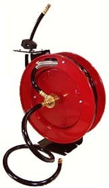 3/8 inch x 50 ft. Professional Retractable Air Hose Reel w/ Hose