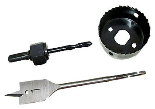 3 Pc Installation Entry Lock Hole Saw Kit