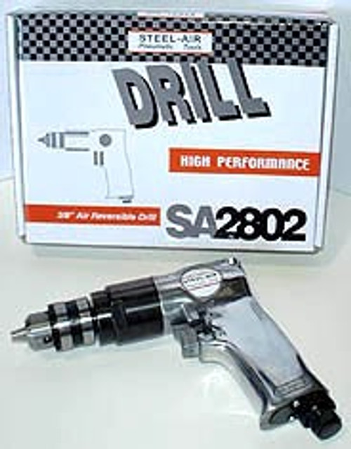 STEEL AIR 3/8 inch Reversible Air Drill #SA2802