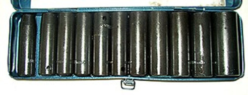 12 Pc Metric 1/2 inch Dr. Deep Impact Socket Set
