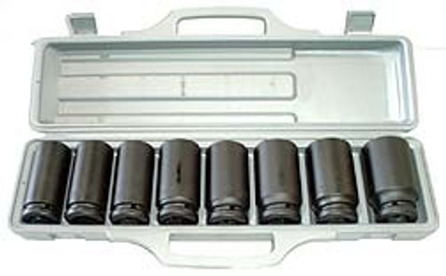 9 Pc 3/4 inch Dr. Deep Impact Socket Set - Metric