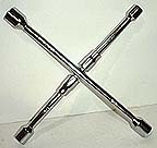 14 inch Folding 4 Way Lug Wrench - Metric