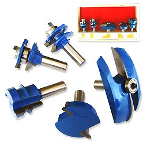 5 Pc Industrial 1/2 inch Ogee Cutter Router Bit Set