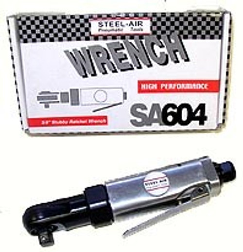 STEEL AIR 3/8 inch Air Ratchet Wrench Stubby #SA604