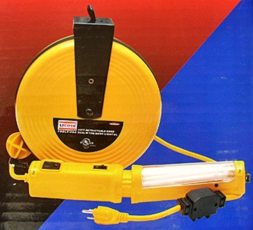 40 Ft Retractable Cord Reel w/ Work Light