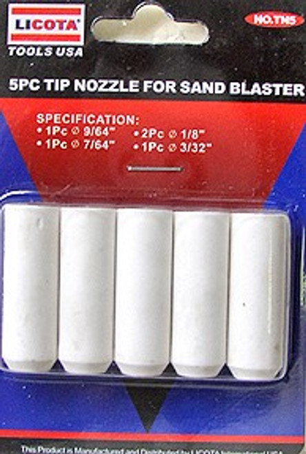 5 Pc Tip Nozzle For Air Sand Blaster