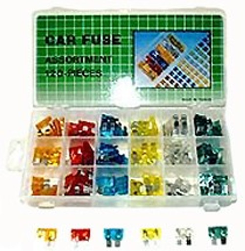 120 Pc Mini Car Fuse Assortment