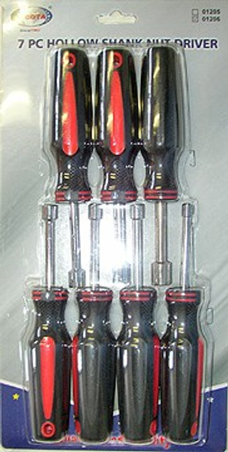 7 Pc Hollow Shank Metric Nut Driver Set #01206