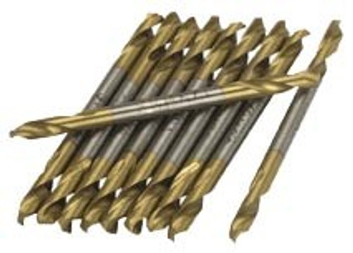 12 Pc 1/8 inch Titanium Double End Drill Bit