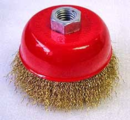 4 inch Wire Cup Brush w/ Nut