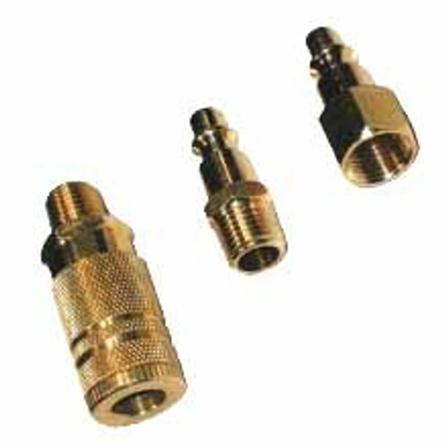 3 Pc Brass Quick Couplers