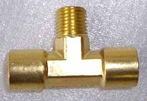 2 Way Brass Air Tee Splitter