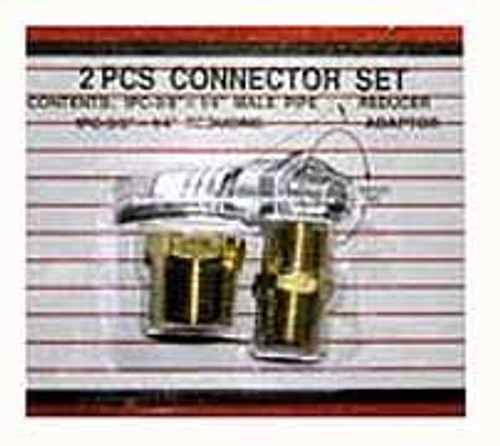 2 Pc Brass Connector Set