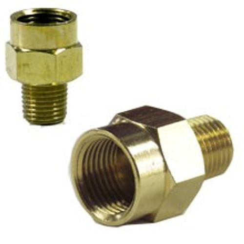 1 Pc 3/8 inch (F) to 1/4 inch (M) Brass Connector