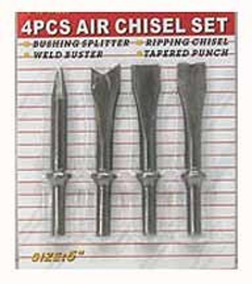 4 Pc Air Chisel Set