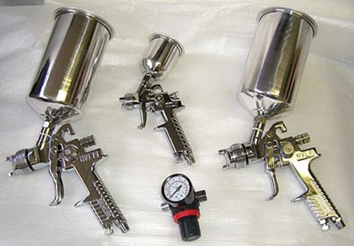 4 Pc HVLP Spray Gun Kit