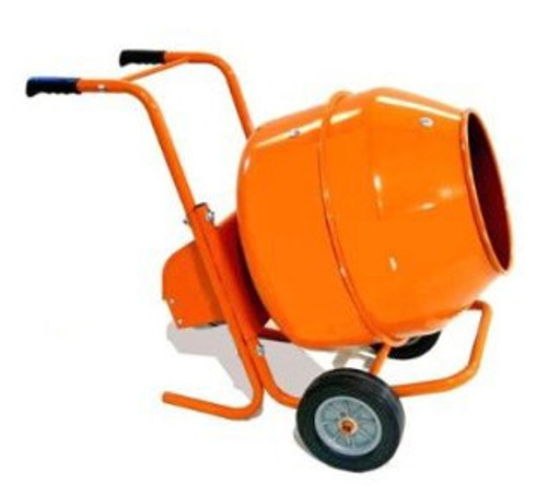 5 Cu. Ft. Wheelbarrow Style Electric Cement Mixer