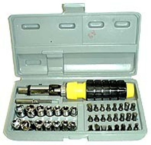 41 Pc Screwdriver Bits & Socket Set