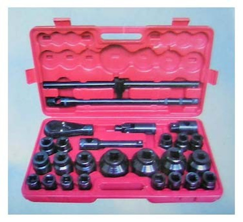 26 Pc 1 Inch and 3/4 Inch Metric Black Socket Set